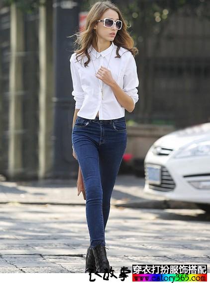 纯色方领纯棉衬衫