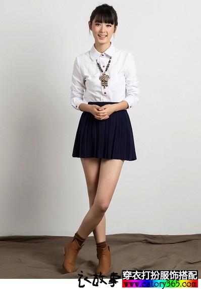 纯色加绒娃娃领衬衫