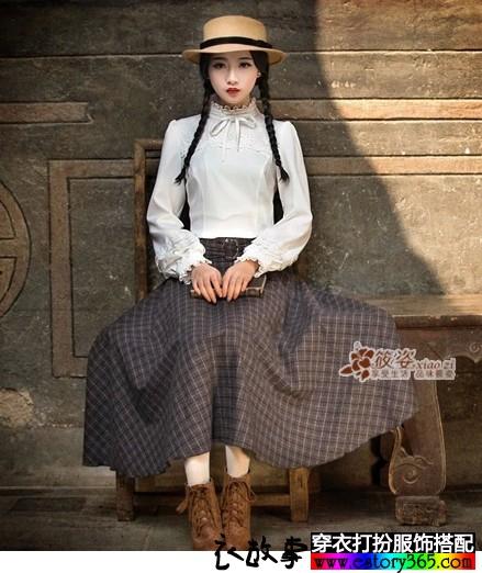 淑女灯笼袖蕾丝白衬衫