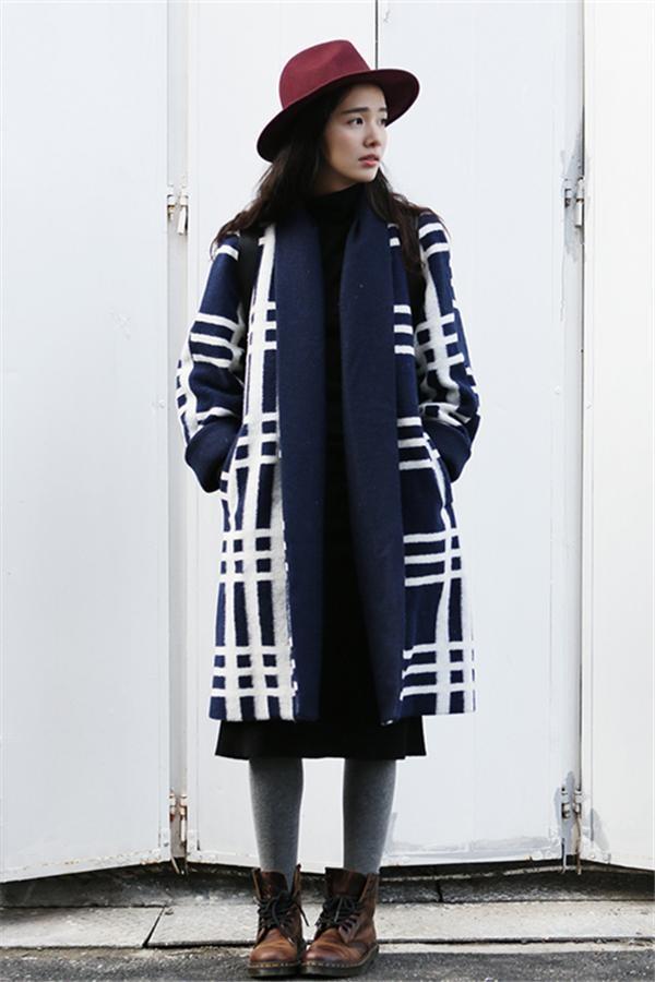 高个子女生搭配:冬款大衣示范