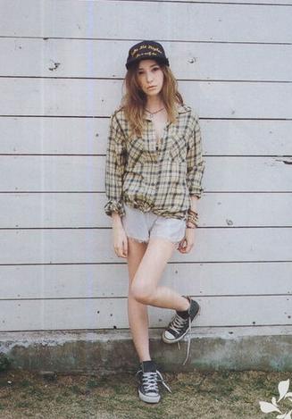 高个子女生夏季穿衣搭配-各种上衣配短裤
