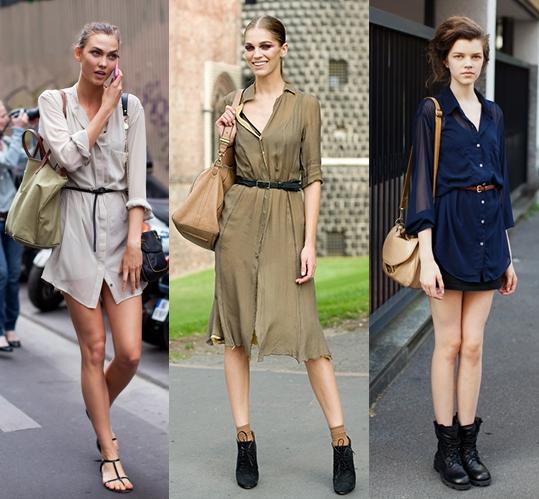 高个子女生怎么穿衣搭配好看:连衣衬衣裙
