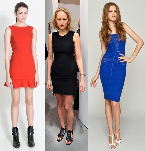 高个子女生怎么穿衣搭配好看:紧身连衣裙