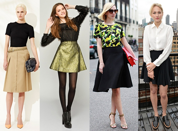 高个子女生如何服装搭配才好看:A字半裙