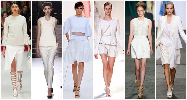 服装选择以浅色调和中性色为主