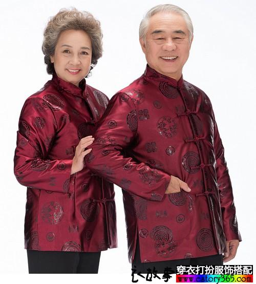 中老年唐装情侣外套