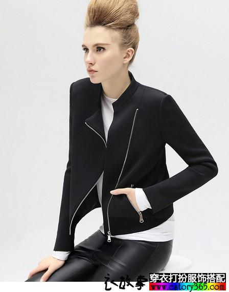 太空棉机车夹克短外套