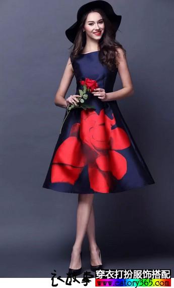 宁静优雅长裙搭配图片
