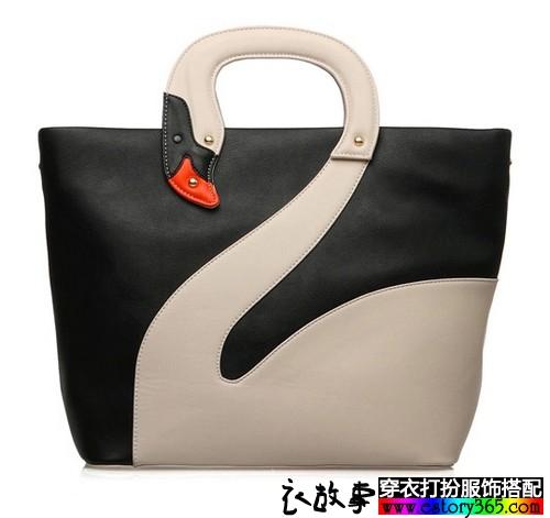 天鹅大容量手提包