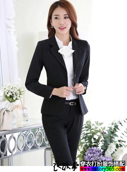 衬衫西装裤裙职业套装