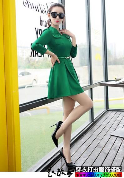 修身显瘦针织裙