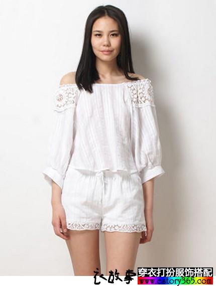 性感镂空纯棉睡衣套装