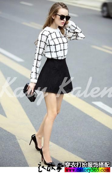 高腰蕾丝小黑裙
