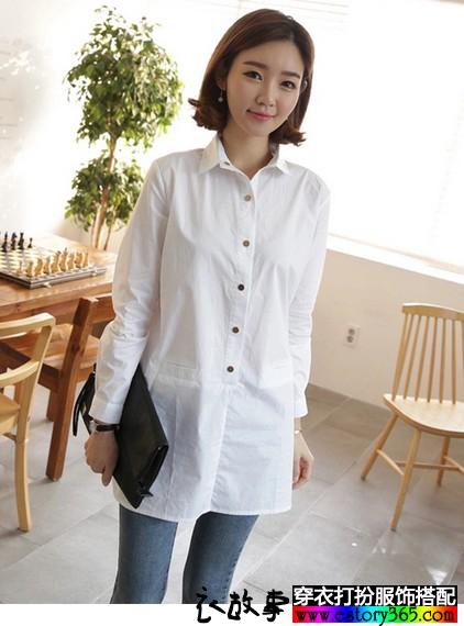 宽松款白衬衫