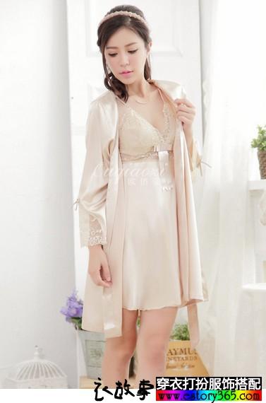 丝绸睡衣两件套