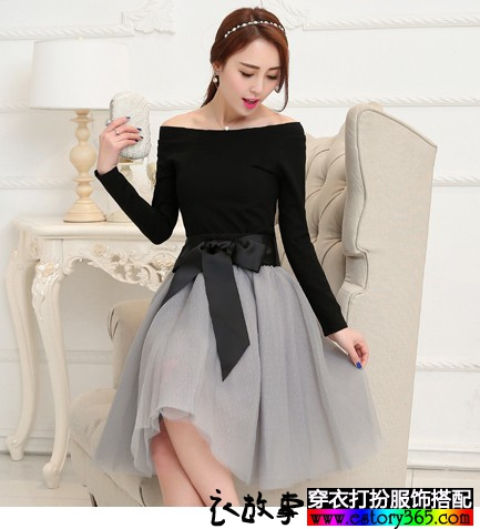 小香风两件套连衣裙