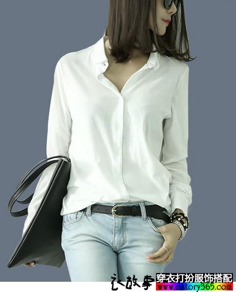中长款白衬衫