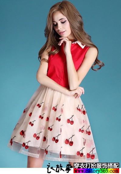 网纱刺绣显瘦蓬蓬裙