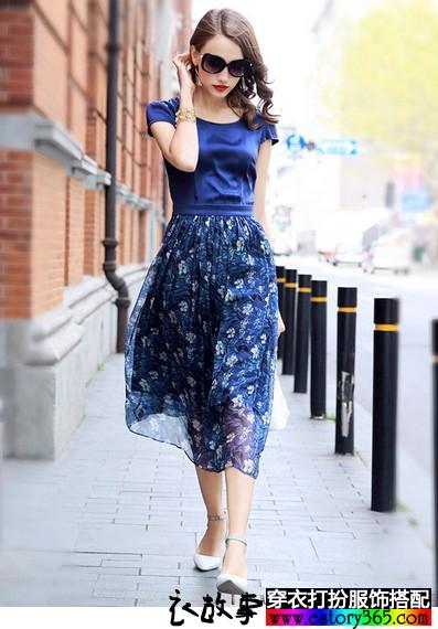 夏天需要清凉的蓝色衣服