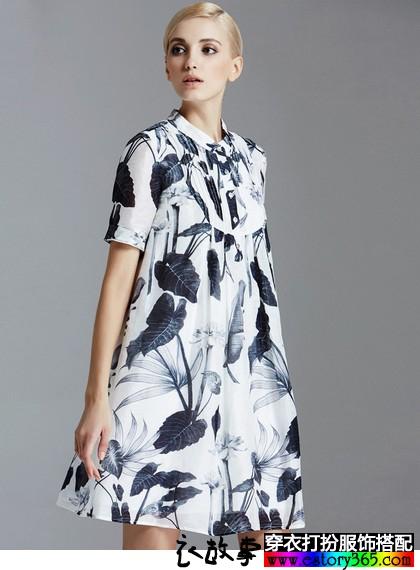 亚麻桑蚕丝连衣裙