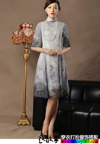 改良时尚旗袍连衣裙