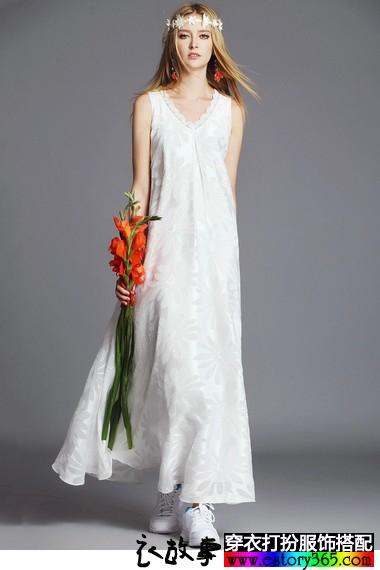 雪纺蕾丝宽松仙女裙