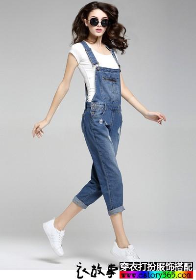 率性和自由的连体裤搭配