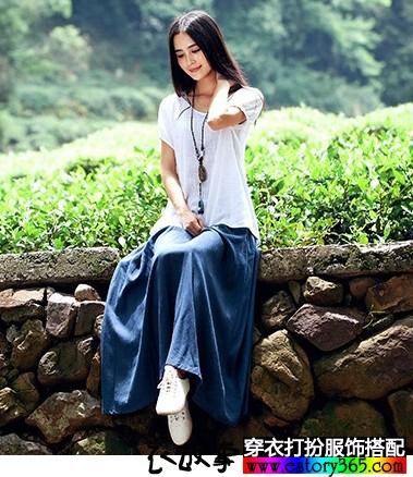 纯色棉麻半身裙