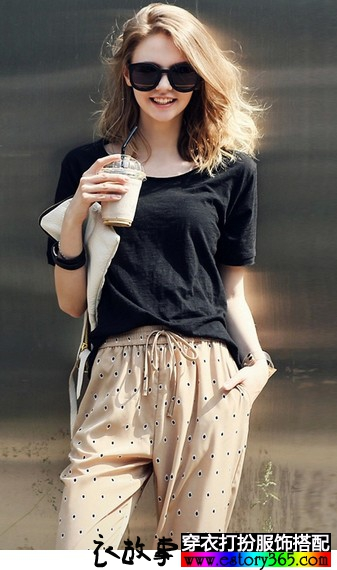 套头纯色短袖T恤