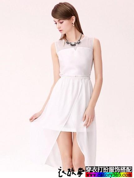 可拆裙摆连衣裙