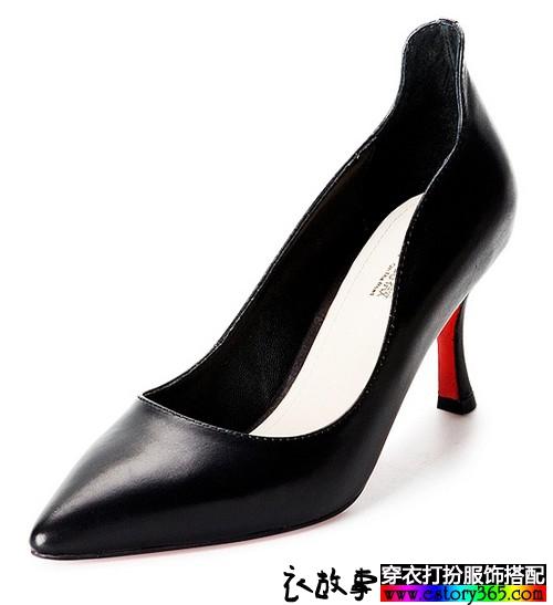 尖头浅口高跟鞋