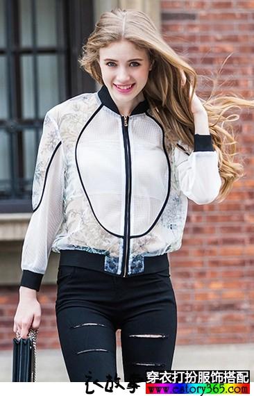 防紫外线印花薄外套