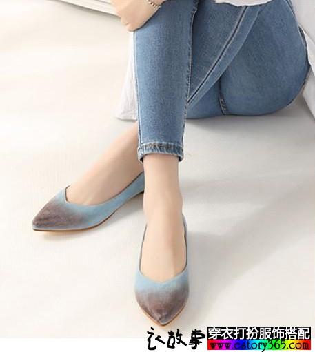 浅口尖头单鞋