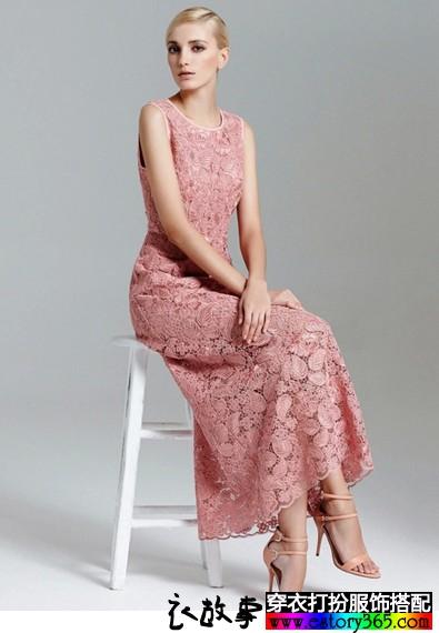 蕾丝长款连衣裙