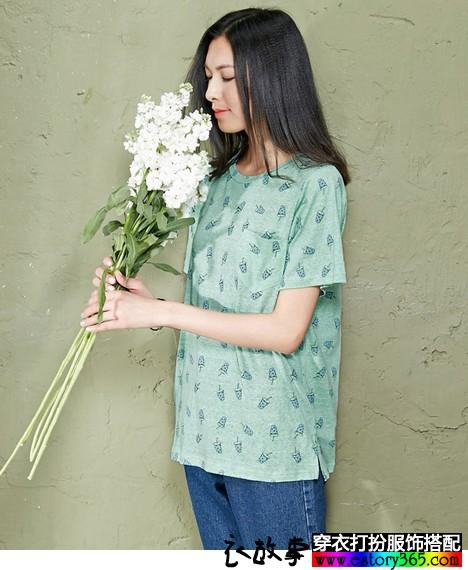 纯棉印花T恤