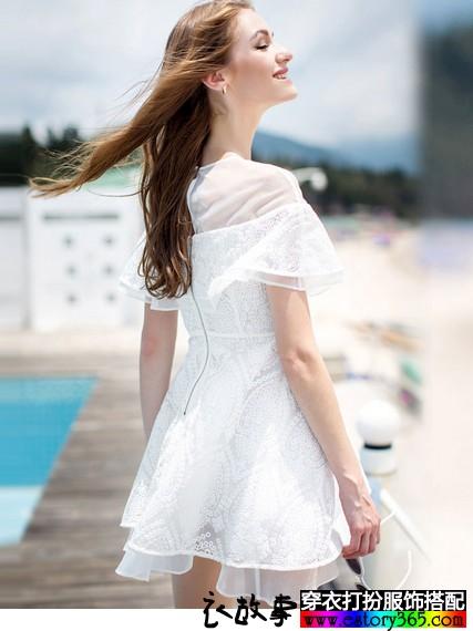 欧根纱蕾丝刺绣公主裙