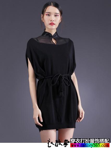 气质淑女蝙蝠连衣裙