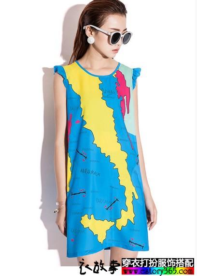 颜色缤纷的女生夏款衣服搭配