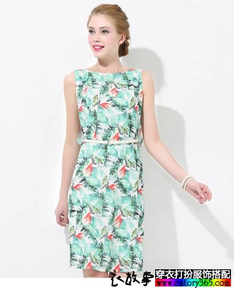 波西米亚H型雪纺连衣裙