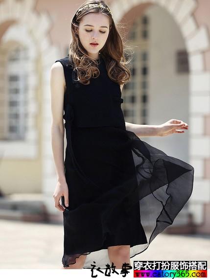 复古真丝裙套装