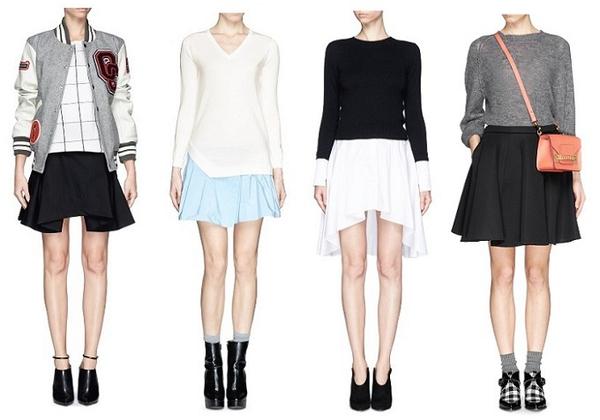 女生如果是下半身的身材胖上半身的身材瘦,要怎样搭配衣服——裙子篇