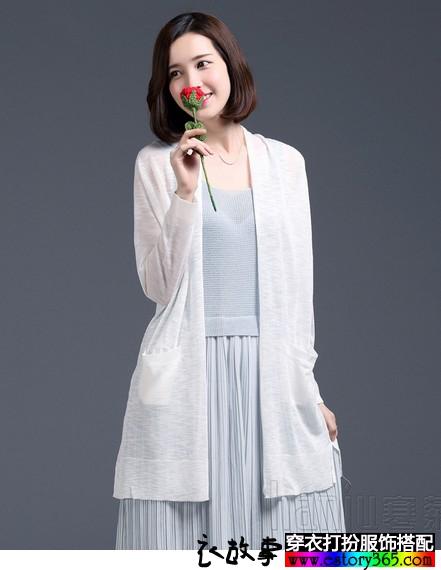 亚麻针织宽松外披空调衫