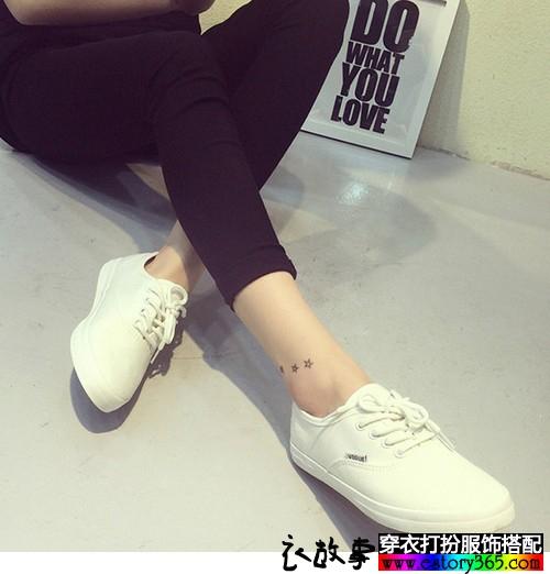 纯色牛筋底板鞋