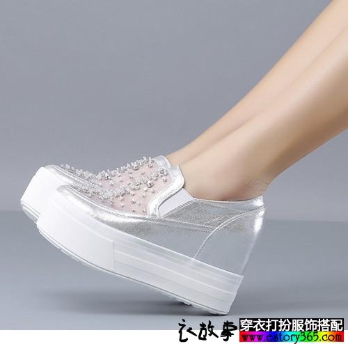 网纱松糕底单鞋