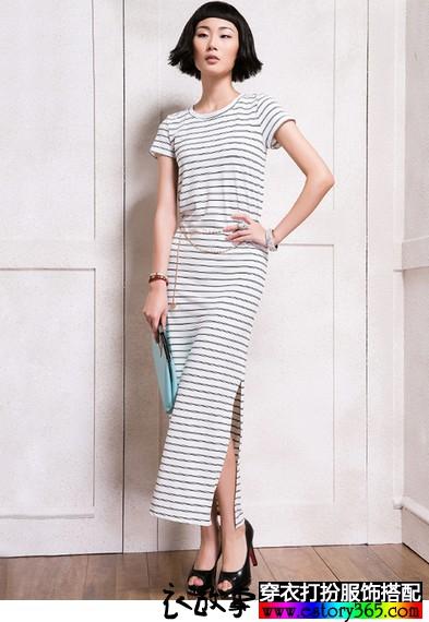 纯棉复古长款一步裙