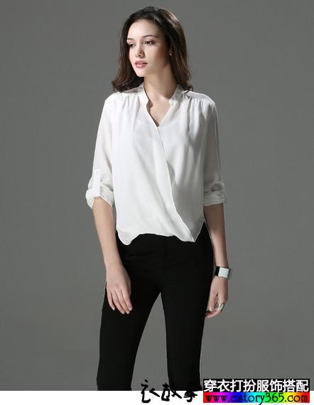 真丝长袖白衬衫
