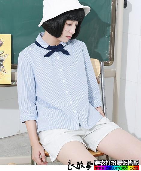 留白的七分袖,七分袖衣服搭配