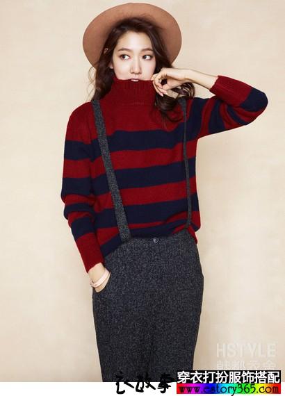 让秋天温暖的针织衣服搭配