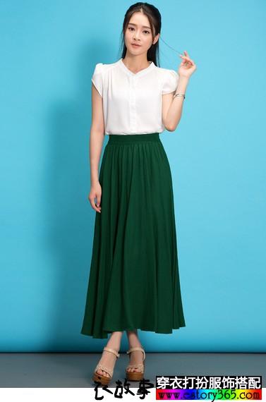 文艺范儿半身裙