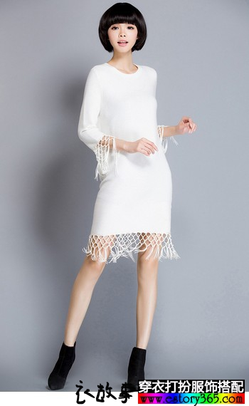 自由的针织裙,让秋天温暖起来